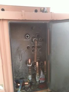 Repairing Hot Water Coil at Cherry Creek Polo Club
