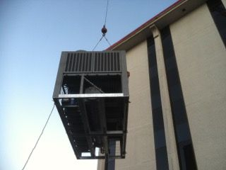 Rigging Chiller Onto a Seven Story Building